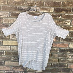 LulaRoe size XS women's striped shortsleeved